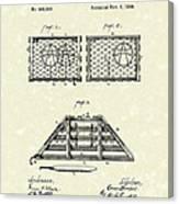 Lobster Trap 1888 Patent Art Canvas Print
