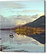 Loch Leven Moorings Canvas Print