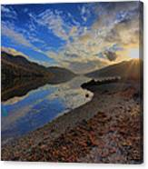 Loch Long As The Sun Sets Canvas Print