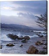 Loch Ness Shoreline At Dusk Canvas Print