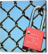Locked Together Forever Canvas Print