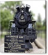 Locomotive 639 Type 2 8 2 Front View Canvas Print