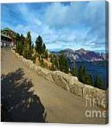 Lodge On The Crater Canvas Print