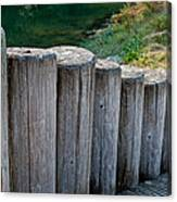 Log Handrail Canvas Print