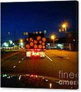 Logging Truck Ahead Canvas Print