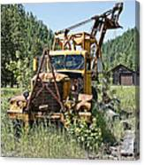 Logging Truck - Burke Idaho Ghost Town Canvas Print