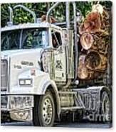 Logging Truck Canvas Print