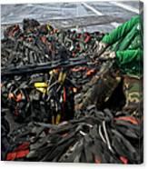 Logistics Specialist Wraps Cargo Nets Canvas Print