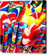 Lollipops - Painterly - Red Canvas Print