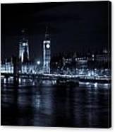 London At  Night View Canvas Print