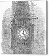 London: Big Ben, 1856 Canvas Print