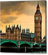 London - Big Ben And Parliament Canvas Print