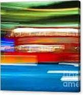 London Bus Motion Canvas Print