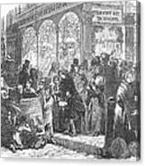 London: Christmas, 1866 Canvas Print