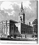 London: Church, C1830 Canvas Print