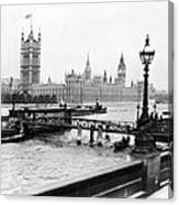 London England - House Of Parliament - C 1909 Canvas Print