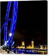 London Eye And London View Canvas Print