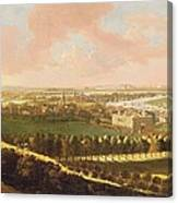 London From Greenwich Hill Canvas Print