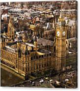 London From The London Eye Canvas Print