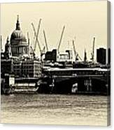 London From The Southbank Canvas Print