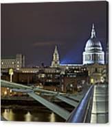 London Millennium Bridge Canvas Print