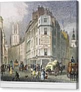 London: Street Scene, 1830 Canvas Print