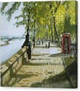 London Westminster Embankment Canvas Print