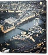 #londoneye #bigben #thetimes #river Canvas Print