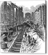 London:fleet Street Sewer Canvas Print