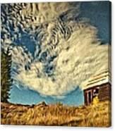 Lone Cabin Canvas Print