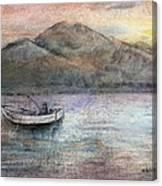 Lone Fisherman Canvas Print