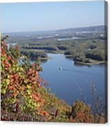 Lone River Boat Canvas Print
