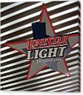 Lone Star Beer Light Canvas Print