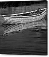 Lone White Boat In Nova Scotia Canvas Print