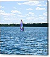 Lone Wind Surfer Canvas Print