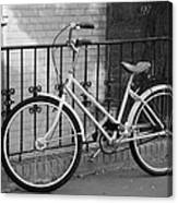 Lonely Bike In Black And White Canvas Print