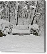 Lonely In Winter Canvas Print