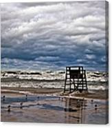 Lonely Lifeguard Chair 2 Canvas Print