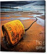 Lonely Yellow Buoy Canvas Print