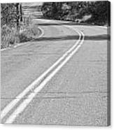 Long And Winding Road Bw Canvas Print