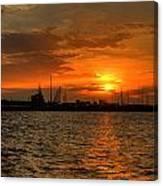Long Beach Harbor Sunrise Canvas Print