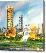 Long Beach Oil Islands Canvas Print