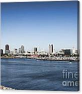 Long Beach Skyline Canvas Print