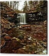 Long Canyon Waterfall Canvas Print