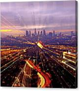 Long Exposure Of Cityscape Canvas Print