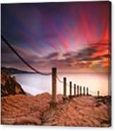 Long Exposure Sunset Shot From The Canvas Print