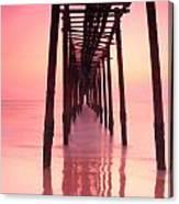 Long Exposure Wood Bridge To The Sea Canvas Print