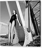 Long Legs On The Bridge  Canvas Print