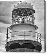 Long Point Lighthouse - Black And White Canvas Print