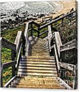 Long Stairway To Beach 2 Canvas Print